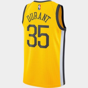 Men's Nike Golden State Warriors NBA Kevin Durant Earned Edition Swingman Jersey Amarillo Sales