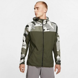 Men's Nike Flex Camo Full-Zip Jacket Cargo Khaki/Light Bone/Black Sales