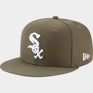 New Era Chicago White Sox MLB 9FIFTY Snapback Hat Olive Sales