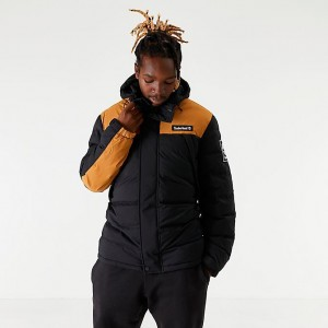 Men's Timberland Puffer Jacket Black/Wheat Sales