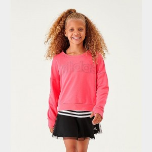 Girls' adidas Athletics Fleece Crewneck Sweatshirt Pink Sales