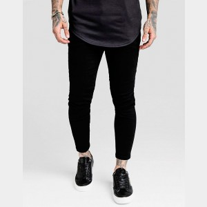 Men's SikSilk Skinny Denim Jeans Black Sales