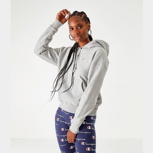 Women's Champion Life Reverse Weave Pullover Hoodie Oxford Grey Sales