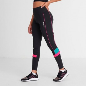 Women's adidas Originals Tech Leggings Black/Pink Sales