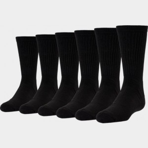 Kids' Finish Line 6-Pack Crew Socks Black Sales
