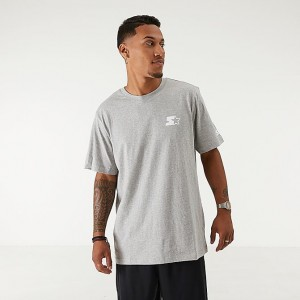 Men's Starter Logo T-Shirt Grey/White Sales