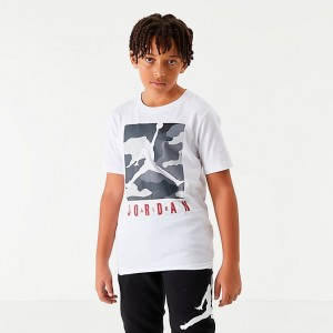 Boys' Jordan Jumpman Air Camo Box Graphic T-Shirt White/Camo Sales