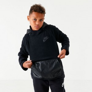 Boys' Nike Sportswear Winter Hoodie Black Sales