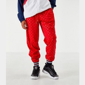 Men's Fila Mitchell Track Pants Red Sales