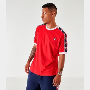 Men's Fila Luca T-Shirt Red Sales