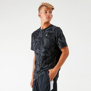 Men's Jordan 23 Air Printed T-Shirt Black Sales