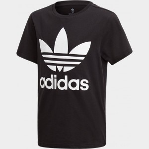 Kids' adidas Originals Trefoil T-Shirt Black/White Sales