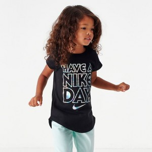 Girls' Little Kids' Have A Nike Day T-Shirt Black Sales