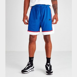 Men's Nike Sportswear Statement Mesh Shorts Indigo Force Sales