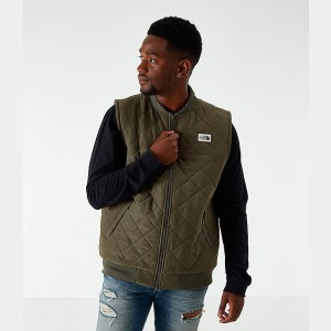 Men's The North Face Cuchillo Insulated Vest Taupe Green Sales