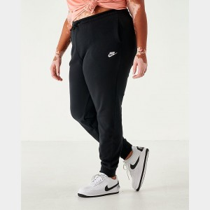 Women's Nike Sportswear Essential Jogger Pants (Plus Size) Black Sales