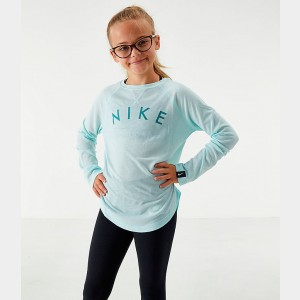 Girls' Nike Dri-FIT Trophy Long-Sleeve Training Shirt Teal Tint Sales