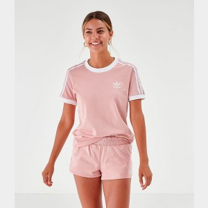 Women's adidas Originals Cali T-Shirt Pale Pink Sales