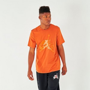 Men's Jordan Mashup Classics T-Shirt Dark Russet/Orange Sales