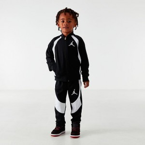 Boys' Little Kids' Air Jordan Retro 1 Tricot Track Jacket and Pants Set Black/White Sales