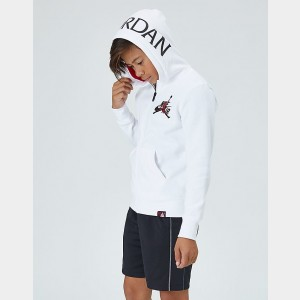 Boys' Jordan Mashup Jumpman Classics Full-Zip Hoodie White Sales