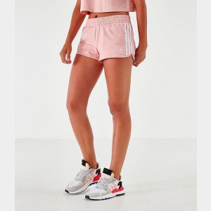 Women's adidas Mono Athletic Shorts Pale Pink/White Sales