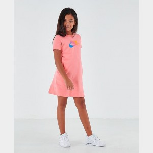 Girls' Nike Sportswear Future Femme T-Shirt Dress Pink Gaze Sales
