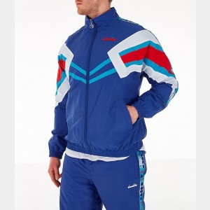 Men's Diadora Track Jacket Blue Ultramarine Sales