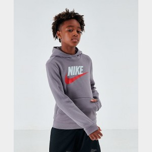 Kids' Nike Sportswear Club Fleece Hoodie Gunsmoke Sales