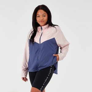 Women's Nike Sportswear Windrunner Jacket (Plus Size) Echo Pink/Sanded Purple/White Sales