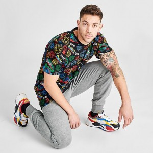 Men's Puma x Rubik's Cube T-Shirt Black Sales
