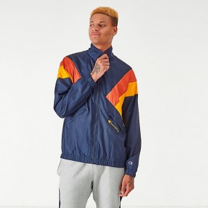 Men's Champion Nylon Colorblock Track Jacket Navy Sales