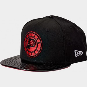 New Era Indiana Pacers NBA 9FIFTY Snapback Hat Black/Red Sales