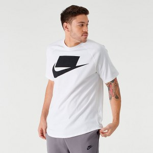 Men's Nike Sportswear Block T-Shirt White/Black Sales