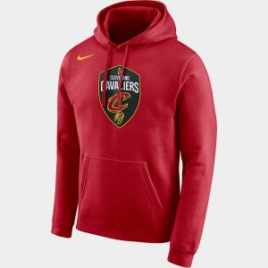 Men's Nike Cleveland Cavaliers NBA City Edition Logo Essential Hoodie Team Red Sales