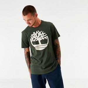 Men's Timberland Core Big Tree Logo T-Shirt Dark Green Sales