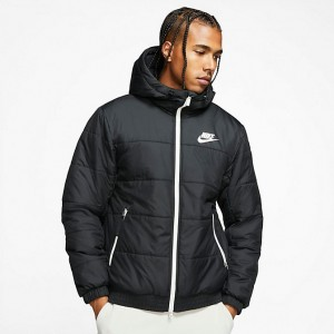 Men's Nike Sportswear Hooded Jacket Black Sales