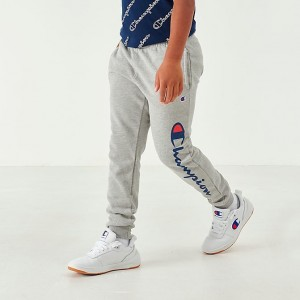 Boys' Champion Heritage Graphic Jogger Pants Heather Grey Sales