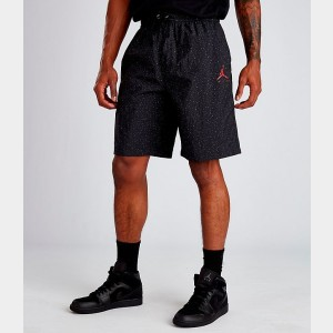 Men's Air Jordan Jumpman Cement Poolside Training Shorts Black/Red Sales