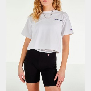Women's Champion Crop T-Shirt White Sales