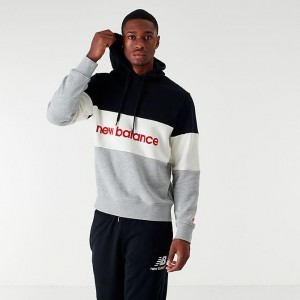 Men's New Balance Athletics Stadium Hoodie Black/White/Grey Marl Sales