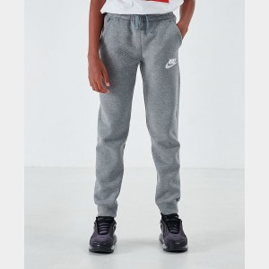 Boys' Nike Sportswear Embroidered Logo Club Fleece Jogger Pants Carbon Heather/Cool Grey/White Sales
