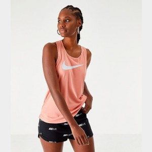 Women's Nike Dri-FIT Miler Running Tank Pink Quartz/White Sales