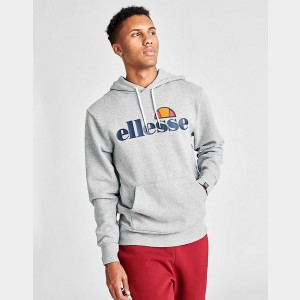 Men's Ellesse Gottero Core Hoodie Grey Sales