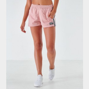 Women's adidas Originals Tape Athletic Shorts Pink Spirit Sales