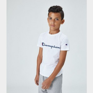 Boys' Champion Script T-Shirt White Sales