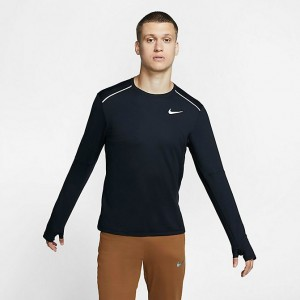 Men's Nike Element Crew 3.0 Running Top Black Sales