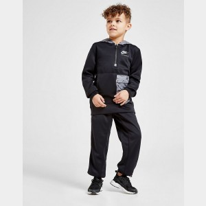 Boys' Toddler and Little Kids' Nike Air Max Half-Zip Hoodie and Jogger Pants Set Black Sales