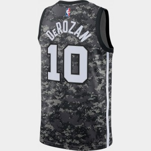 Men's Nike San Antonio Spurs NBA DeMar DeRozan City Edition Connected Jersey Black Sales