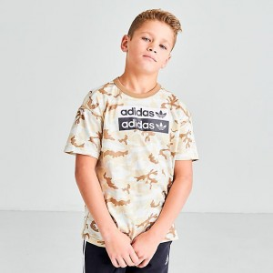 Boys' adidas Originals R.Y.V. Camouflage T-Shirt Multicolor/Cardboard Sales